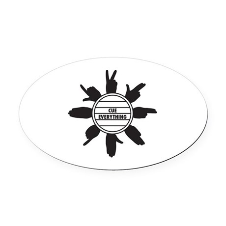 CuedSpeechLogo Oval Car Magnet by listing-store-120072434