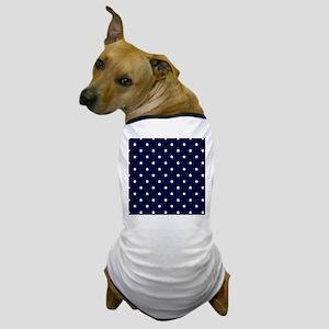 White Stars on Navy Blue Dog T-Shirt