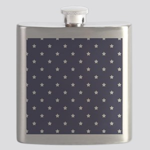 White Stars on Navy Blue Flask