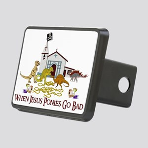 Jesus Ponies Rectangular Hitch Cover