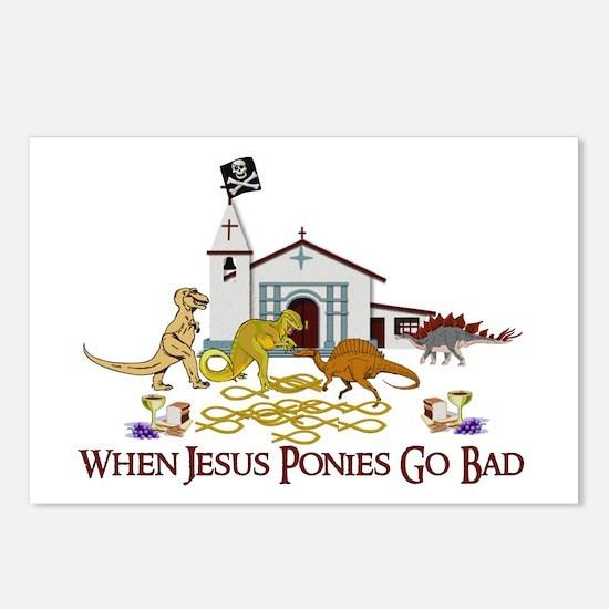 Jesus Ponies Postcards (Package of 8)