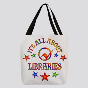 All About Libraries Polyester Tote Bag