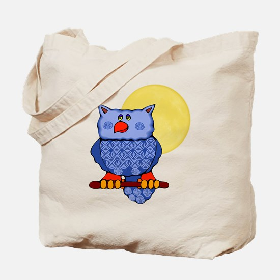 Once in a Blue Moon Owl Tote Bag