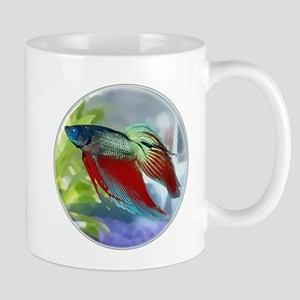 Colorful Betta Fish in a Bubble Mugs