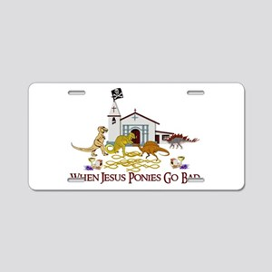 Jesus Ponies - Section Two Aluminum License Plate