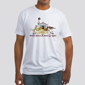 Jesus Ponies - Section Two Fitted T-Shirt
