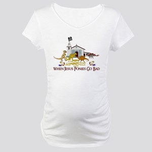 Jesus Ponies - Section Two Maternity T-Shirt
