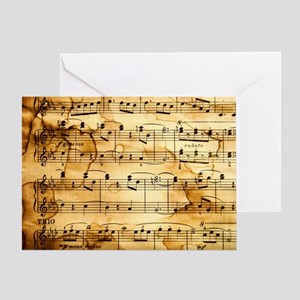 Classical Musical Notes Greeting Card