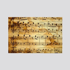 Classical Musical Notes Rectangle Magnet