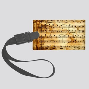 Classical Musical Notes Large Luggage Tag