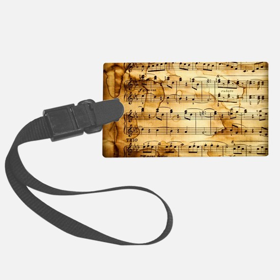 Classical Musical Notes Luggage Tag