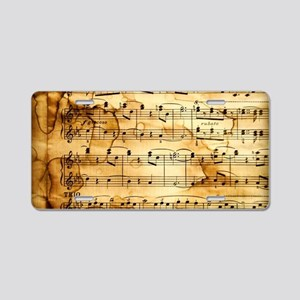 Classical Musical Notes Aluminum License Plate
