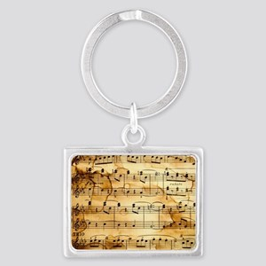 Classical Musical Notes Landscape Keychain