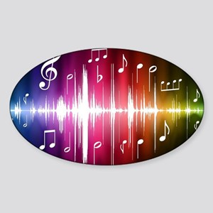 Musical Note Sticker (Oval)