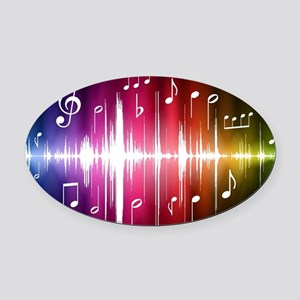 Musical Note Oval Car Magnet