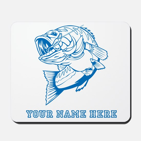 Custom Blue Bass Mousepad