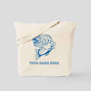Custom Blue Bass Tote Bag