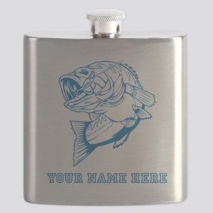 Custom Blue Bass Flask