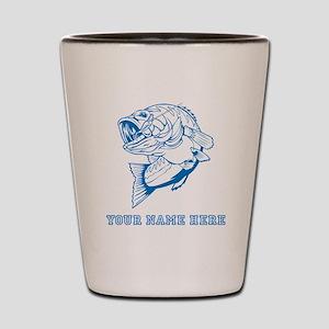 Custom Blue Bass Shot Glass