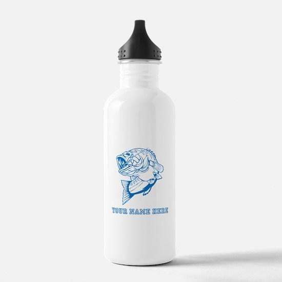 Custom Blue Bass Water Bottle