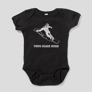 Custom Snowboarder Baby Bodysuit
