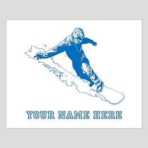 Custom Blue Snowboarder Posters