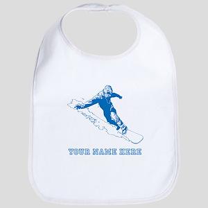 Custom Blue Snowboarder Bib