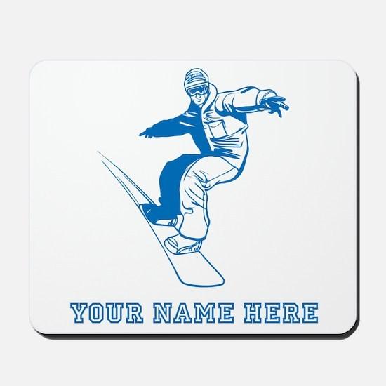 Custom Blue Snowboarder Mousepad