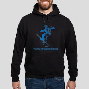 Custom Blue Snowboarder Hoodie