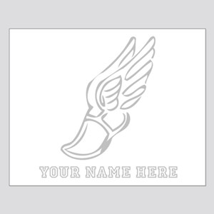 Custom Grey Running Shoe With Wings Posters