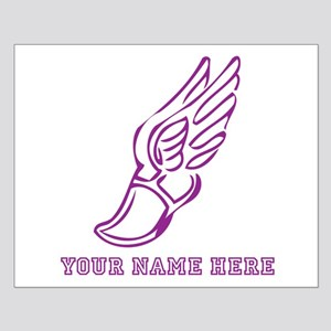 Custom Purple Running Shoe With Wings Posters