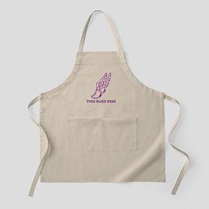 Custom Purple Running Shoe With Wings Apron