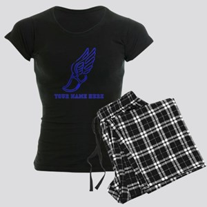 Custom Blue Running Shoe With Wings Pajamas