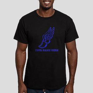 Custom Blue Running Shoe With Wings T-Shirt
