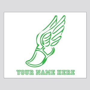 Custom Green Running Shoe With Wings Posters