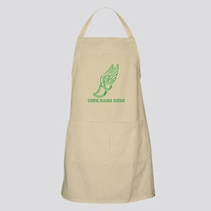 Custom Green Running Shoe With Wings Apron
