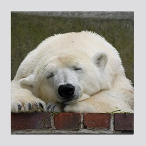 Polar bear 003 Tile Coaster