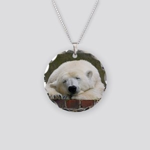 Polar bear 003 Necklace Circle Charm