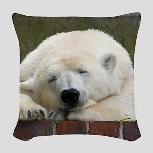 Polar bear 003 Woven Throw Pillow