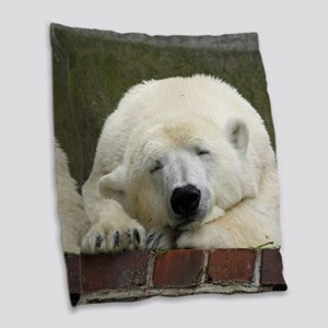 Polar bear 003 Burlap Throw Pillow