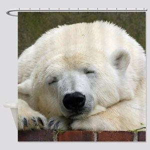Polar bear 003 Shower Curtain