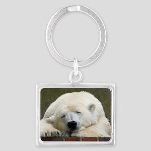 Polar bear 003 Landscape Keychain