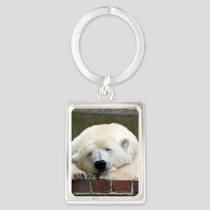 Polar bear 003 Portrait Keychain