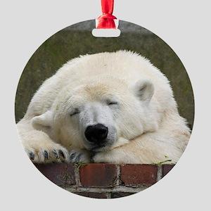 Polar bear 003 Round Ornament