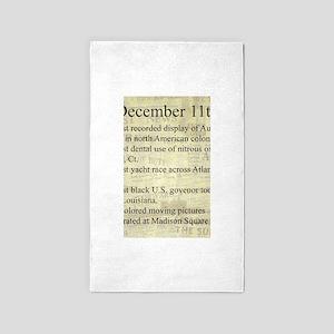 December 11th 3'x5' Area Rug