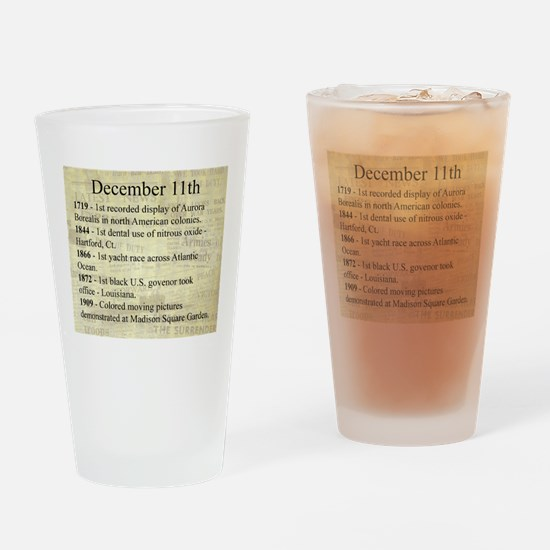 December 11th Drinking Glass
