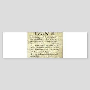 December 9th Bumper Sticker