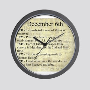 December 6th Wall Clock