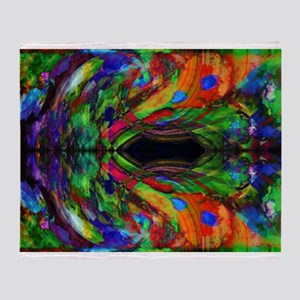 Jewel Tone Abstract Throw Blanket