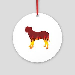 Presa Flames Ornament (Round)